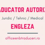Traducator Autorizat Engleza: Juridic, Tehnic, Medical